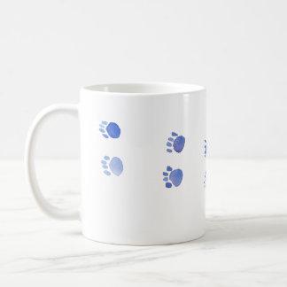 Purple and Blue Kitty Paw Prints Coffee Mug