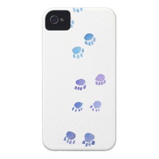 Purple and Blue Kitty Paw Prints iPhone 4 Case
