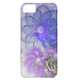 Purple and Blue Lacy Abstract Flower Design iPhone 5C Cover