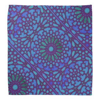 Purple and blue Moroccan knot work Bandana