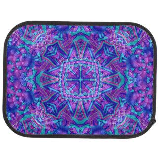 Purple And Blue Pattern  Custom Car Floor rear Car Mat