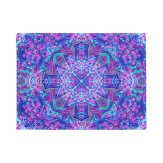 Purple And Blue Pattern  Door Mats Doormat