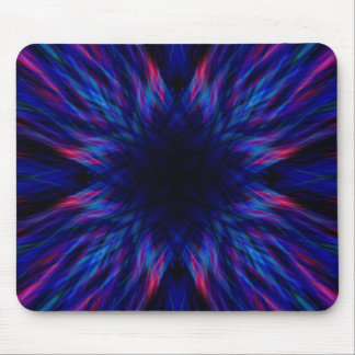 Purple and blue pattern mouse pad