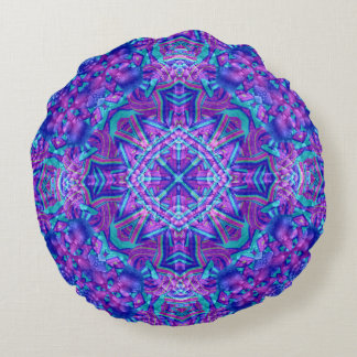 Purple And Blue Pattern    Throw Pillows, 2 styles Round Pillow