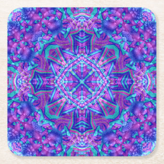 Purple And Blue  Pulp board Coasters, 2 shapes Square Paper Coaster