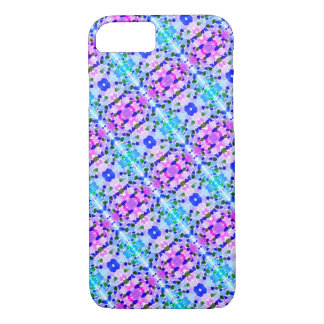 Purple and Blue Sea Glass Mosaic Design Phone Case