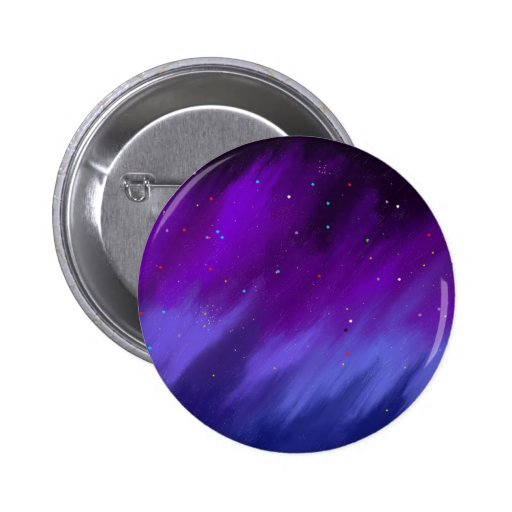 Purple and blue space mist. button