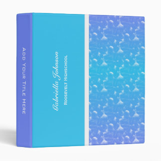 Purple and Blue Sponged: Personalized Binder 3