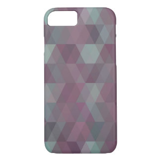 Purple and Blue Triangle Mosaic Pattern Mobile iPhone 7 Case