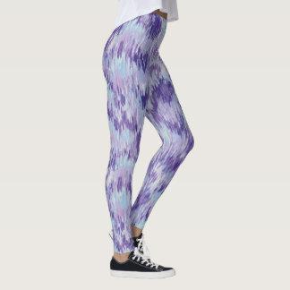 Purple and Blue Vertical Paint Pattern Leggings