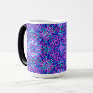 Purple And Blue Vintage Kaleidoscope Morphing Mug