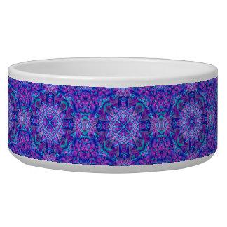Purple And Blue  Vintage Kaleidoscope Pet Dish
