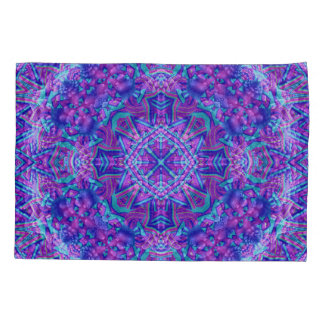 Purple And Blue Vintage Kaleidoscope  Pillowcases