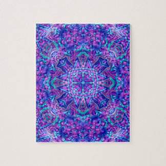 Purple And Blue Vintage Kaleidoscope Puzzle