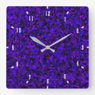 Purple and Blue Wall Clock by Julie Everhart