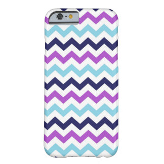 Purple and Blue Zig Zag Chevrons Pattern Barely There iPhone 6 Case
