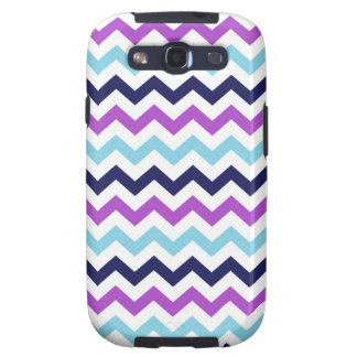 Purple and Blue Zig Zag Chevrons Pattern Galaxy S3 Case