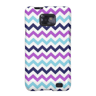 Purple and Blue Zig Zag Chevrons Pattern Samsung Galaxy SII Case