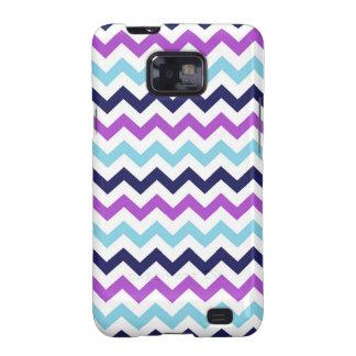 Purple and Blue Zig Zag Chevrons Pattern Samsung Galaxy SII Case