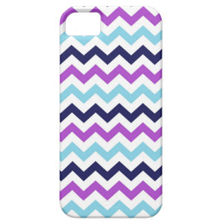 Purple and Blue Zig Zag Chevrons Pattern iPhone 5 Case