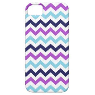 Purple and Blue Zig Zag Chevrons Pattern iPhone 5 Case