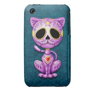 Purple and Blue Zombie Sugar Kitten iPhone 3 Case
