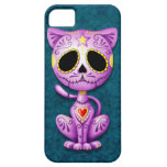 Purple and Blue Zombie Sugar Kitten iPhone 5 Cases