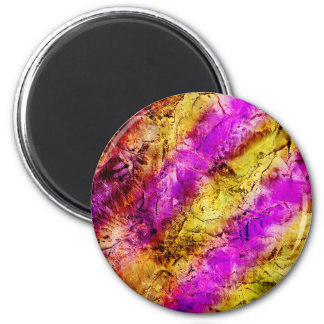 Purple and Gold Abstract Paint Refrigerator Magnet