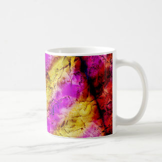 Purple and Gold Abstract Paint Coffee Mugs
