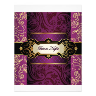 Purple and Gold Bunco Collection Customized Letterhead