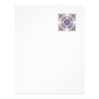 Purple and Gold Circle in a Square Fractal Design Letterhead