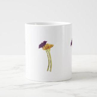 Purple and Gold Flowers large mug