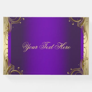 Purple and Gold Guest Book