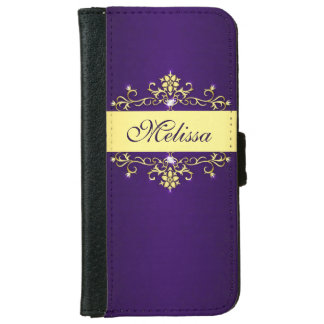 Purple and Gold iPhone 6 Wallet Case