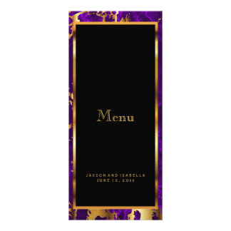 Purple and Gold Marble - Menu