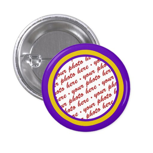 Purple And Gold Photo Frame Template Buttons