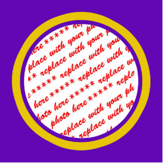 Purple And Gold Photo Frame Template Photo Cut Out