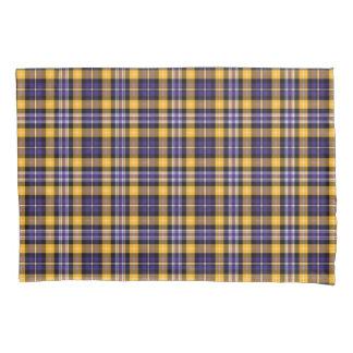 Purple and Gold Plaid Pattern Pillowcase