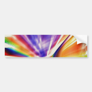 Purple And Gold Radiating Light Bumper Sticker