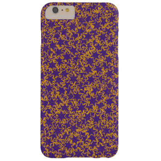 Purple and Gold Star Team Spirit Sports Colors Barely There iPhone 6 Plus Case