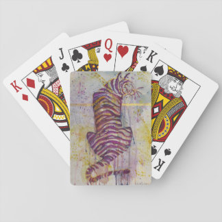 Purple and Gold Tiger Playing Cards