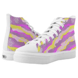 Purple and Gold Tiger Stripes wild pattern