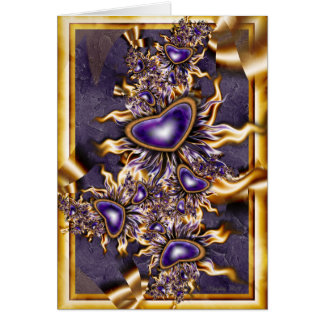 Purple and Gold Valentine Card
