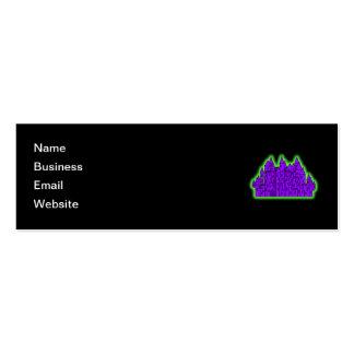 Purple and Green Castle. Mini Business Card