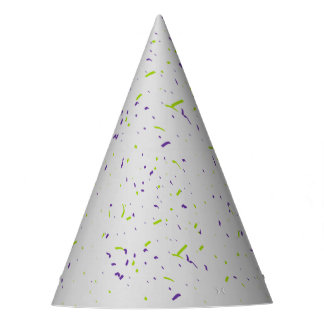 Purple and Green Confetti Party Hat