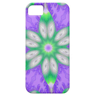 Purple And Green Fractal Flower iPhone 5 Cases