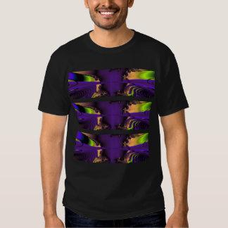 Purple and Green Funky Fractal Art. T Shirt