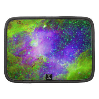 Purple and green Galaxy Nebula space image. Planners