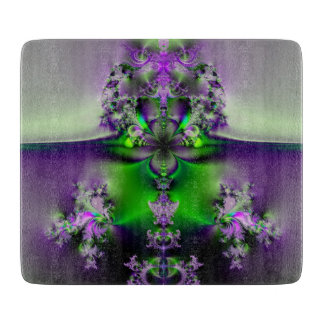 Purple and Green Glory Fractal Cutting Board