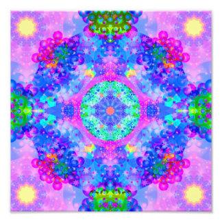 Purple and Green Kaleidoscope Fractal Photo
